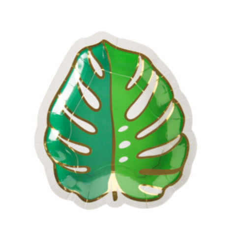 MONSTERA LEAF DIE CUT LARGE PLATES