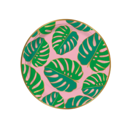 MONSTERA PATTERN SMALL PLATES