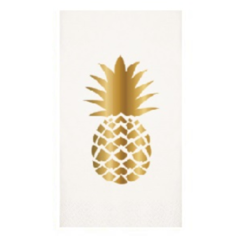 GOLD PINEAPPLE GUEST TOWELS