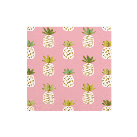PINEAPPLE PATTERN COCKTAIL NAPKINS