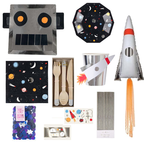 SPACE RACE PARTY BOX FOR 8