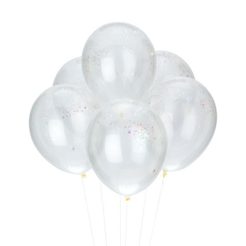 PARTY BALLOONS - IRIDESCENT CONFETTI