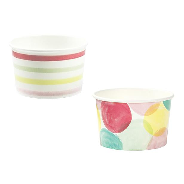 MULTICOLOURED ICE CREAM CUPS