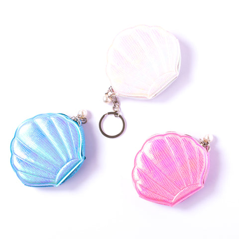 SHIMMERING SEASHELL COIN PURSE