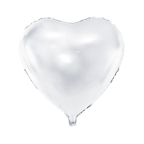 HEART FOIL BALLOON - WHITE