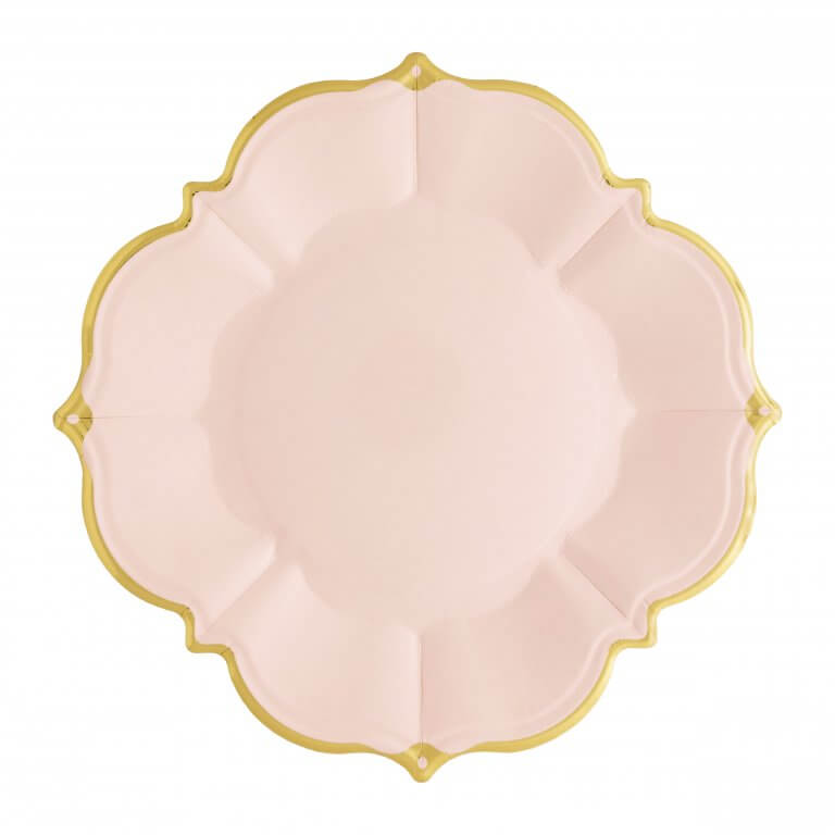 Blush Scalloped Luncheon Paper Plates