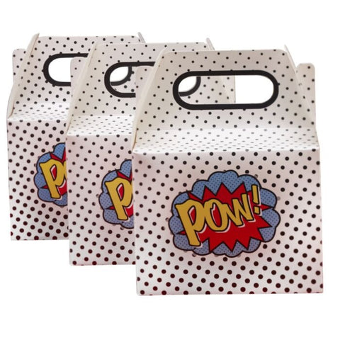 COMIC SUPERHERO PARTY TREAT BOXES