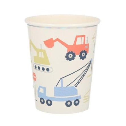 Construction truck party cups