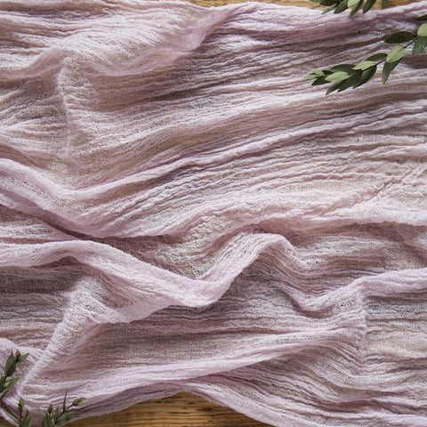 ROSE QUARTZ COTTON GAUZE TABLE RUNNER