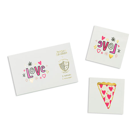 TEMPORARY TATTOOS - LOVE NOTES