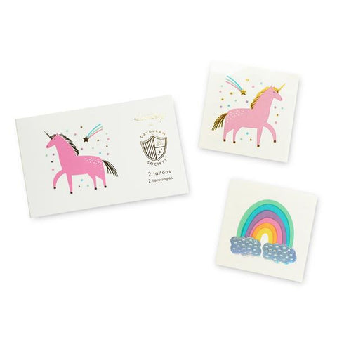 Rainbow and Unicorn Temporary Tattoos