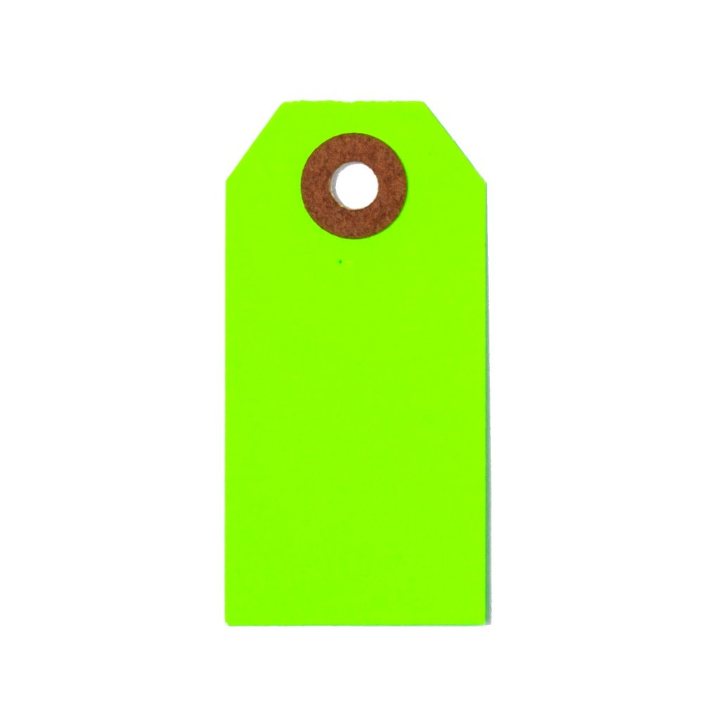 GIFT TAGS - GREEN NEON