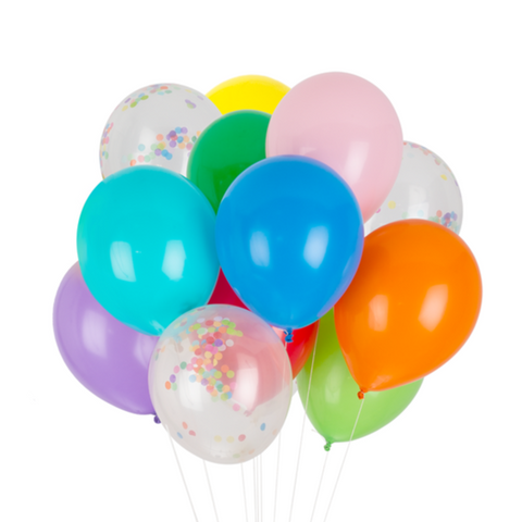 PARTY BALLOONS - RAINBOW CLASSIC