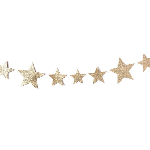 GARLAND - GOLD GLITTER STAR