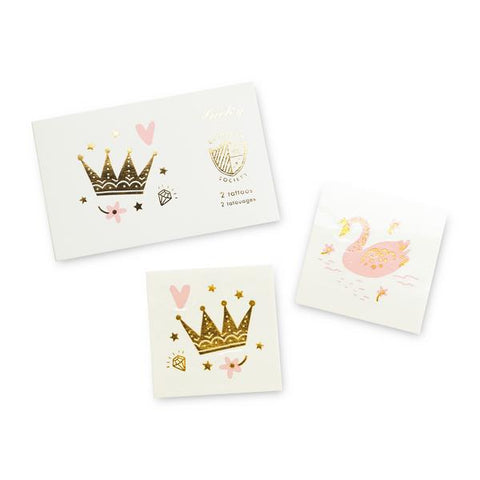 Princess Crown and Swan Tattoos