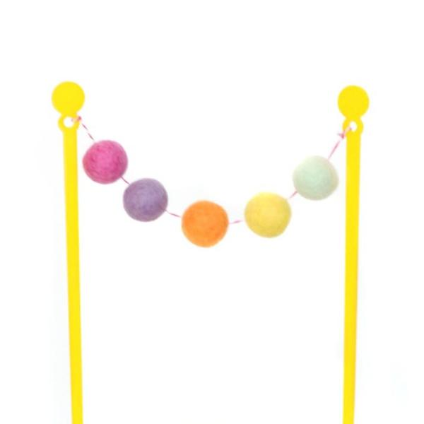 CAKE TOPPER - SUNSHINE FELT BALL BUNTING