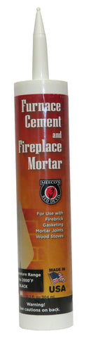 FURNACE CEMENT, BLACK  MO1011