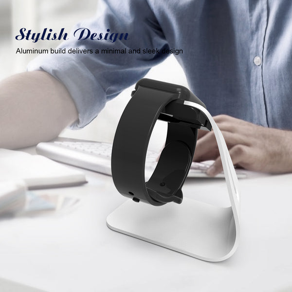 High-grade Sliver Aluminum Charging Dock Cradle Stand Charger For Apple Watch - X-Tronikz