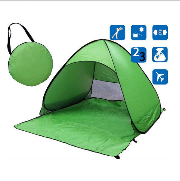 Ship From RU Beach Tent Ultralight Folding Tent Pop Up Automatic Open Tent Family Tourist Fish Camping Anti-UV Fully Sun Shade