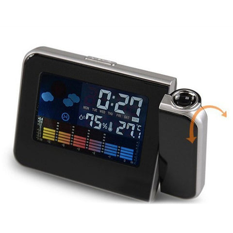 Alarm Clock Projector With Weather Reports