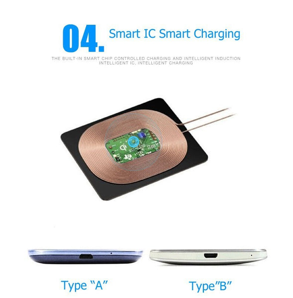 Ultra Thin Universal Qi Wireless Charger Receiver - X-Tronikz