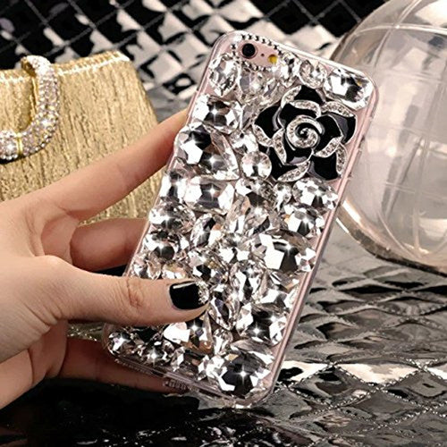 Rhinestone Crystal Diamond Fox & Crown Case - X-Tronikz
