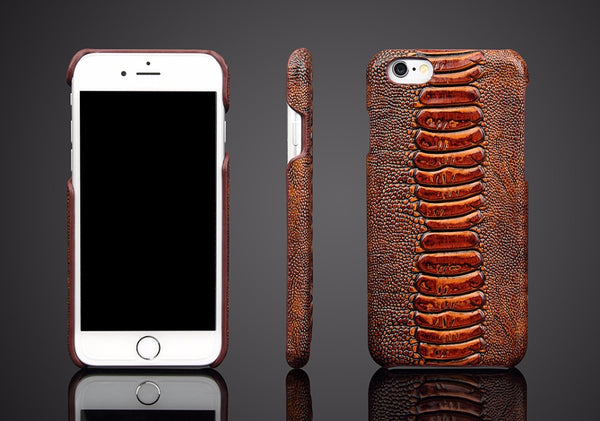 Authentic Leather Phone Case for Galaxy S8 Plus & iPhone - X-Tronikz