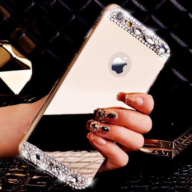 Diamond Rhinestone Mirror Case Cover For iPhone X - 4S - X-Tronikz