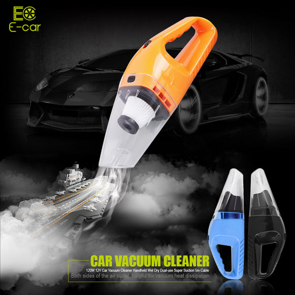 Dual Wet & Dry Car Vacuum Cleaner