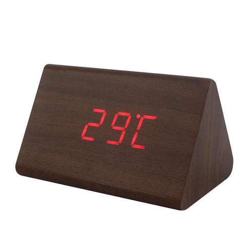 Digital wooden Alarm Clock