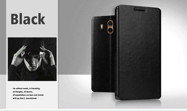 LEATHER FLIP CASE FOR MATE 10 - X-Tronikz