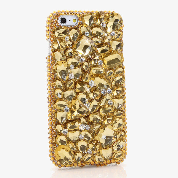 GOLDEN CRYSTAL PHONE CASE FULLY HANDMADE GOLDEN CRYSTAL - X-Tronikz