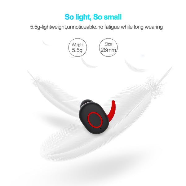 New Style Mini Wireless Bluetooth headphones Earbuds headset Sweat Proof TWINS earphone with charging box for Iphone Xiaomi - X-Tronikz