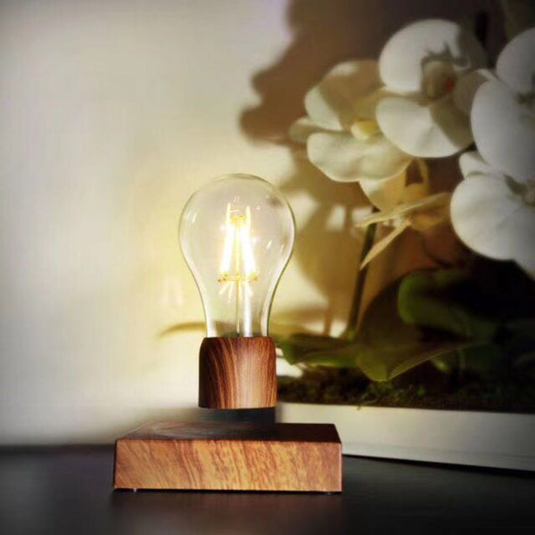Wood Magnetic Levitating lamp