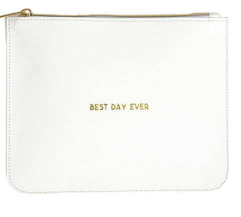 """Best Day Ever"" Leather Pouch"