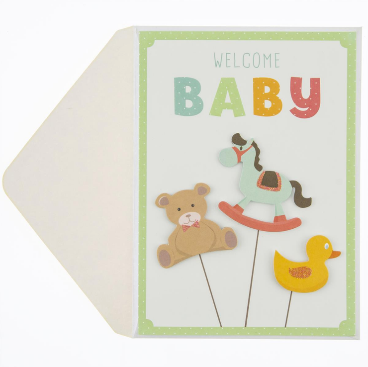 """Welcome Baby"" Card"