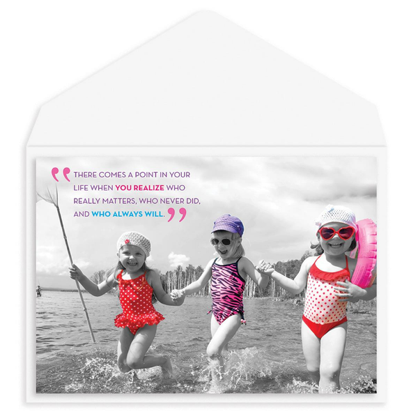 """Girls in Water"" Friendship Card"