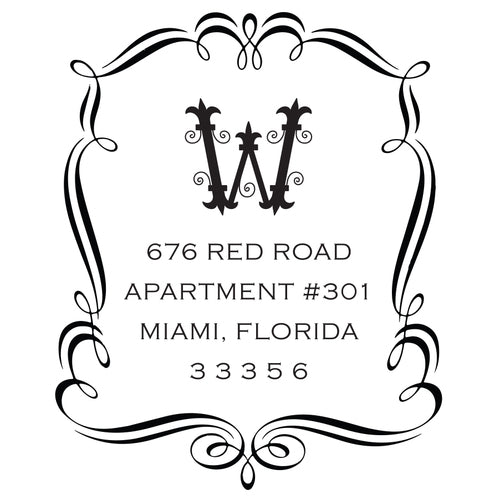 Return Address Stamp- Design 9