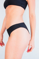 The Ava Black Bikini Bottom