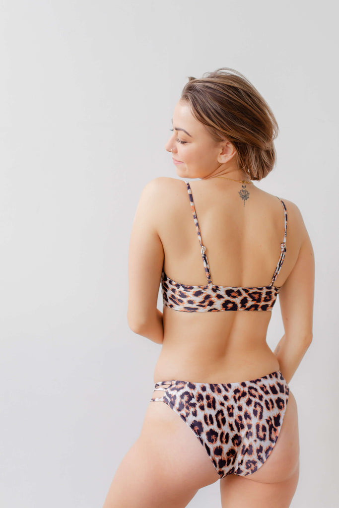The Mia Leopard Print Bikini Top