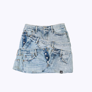 Levis Remixed Layered Mini Skirt