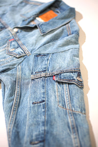 Levis Remixed Blue Denim Crop Jacket