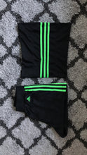 Alien Green Adidas Tube Top + Short set
