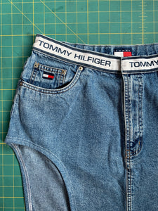 Vintage Tommy Hilfiger Thigh-High Cutout Skirt