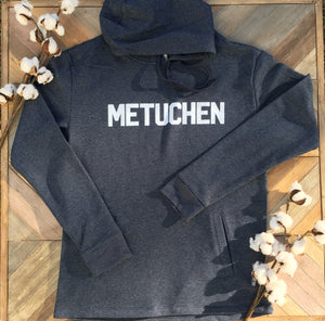 "Sweatshirt - Hooded with ""Metuchen"" in Block Lettering"