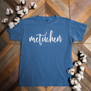 "Youth Short Sleeve - ""Metuchen"" in Script Lettering"