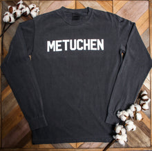 "Long Sleeve Tshirt - ""Metuchen"" in Block Lettering"