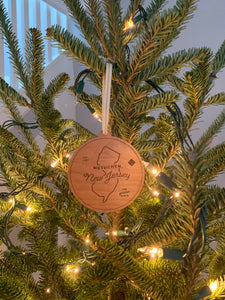 "Wooden Ornament - ""Metuchen"""