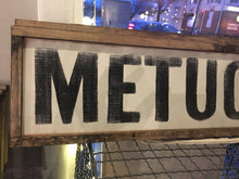 Metuchen Wooden Sign