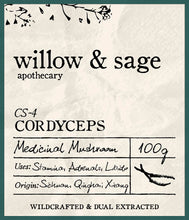 Cordyceps Mushroom - Willow and Sage Apothecary